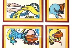 Dali, Salvatore: Circle of Life, Siebdruck, vierteilig, 200 x 160 cm, handsigniert, gerahmt
