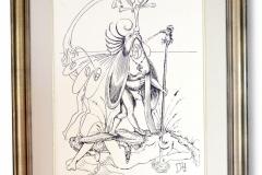Dali, Salvatore: Der Traum, Lithographie, VIII / L, 79 x 100 cm, handsigniert, gerahmt