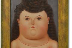 Botero, Fernando: Women - Kopie, Öl auf Leinwand, 30 x 40 cm, gerahmt, Unikate Kopie von H. Bacall im Stil Boteros