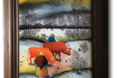 Jwekovic, Dujan: Hinterglasmalerei, Unikat, handsigniert