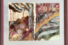 Helma: Doppelbild Flora, Acryl auf Papier, Unikat, handsigniert, gerahmt
