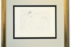 Picasso, Pablo: Lithographie, handsigniert, gerahmt mit entspiegeltem Museumsglas